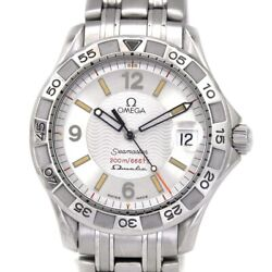 Omega Seamaster Omegamatic 2514.30 Wristwatch Sapphire Glass Ss Secondhand