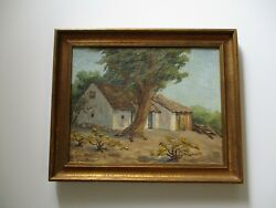 Darling Signed Antique Oil Painting American Plein Air Landscape Impressionism