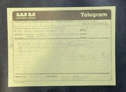 The Band Cannonball Adderly Concert Confirmation Western Union Telegram 1971