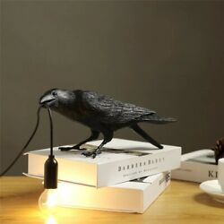 Bird Table Lamps Resin Crow Desk Lamp Bedroom Nordic Style Wall Sconce Light