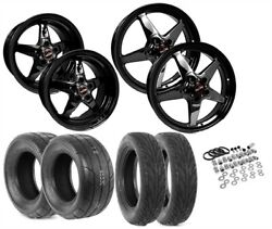 Race Star Wheels 92-s550blk Wheel And Tire Kit 2015-up Ford Mustang Includes 2