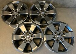4 Ford F-150 F150 Pickup Black Wheels Rims + Caps 20 Expedition