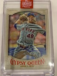 1/1 2019 Jacob Degrom Auto Gypsy Queen Never Touched Sealed