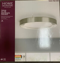 Home Decorators Collection Calloway 19 Inches LED Color Changing Flush Mount