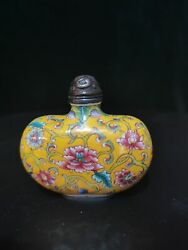 Old Beijing Chinese Cloisonne Snuff Bottle Enamel Snuff Box Gifts Antique Pets P