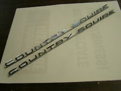 Nos Oem Ford 1965 Galaxie Country Squire Station Wagon Emblems Ornaments Scripts