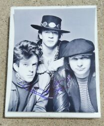 Stevie Ray Vaughan Double Trouble Band Signed 8x10 Photo Tommy Shannon