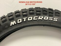 New Kenda K44 Motocross 20and039and039x 2.125and039and039 Bike Tires Pair Black.