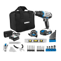 Hart 20-volt Cordless 36-piece Project Kit 3/8-inch Drill/driver And 10-inch