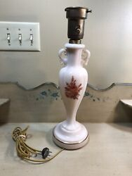 Antique Alacite Aladdin Electric Table Lamp And Milk Glass Torchiere Lamp Shade
