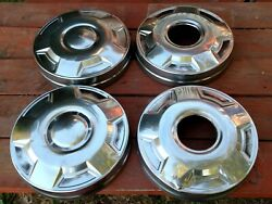 Hub Caps / Dog Dish 3/4 And 1 Ton 4x4 Ford Truck Oem Complete Set Of 4