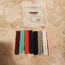 Teckmico Colored Watchbands 8 Different Colors Color Day Lucky Life.