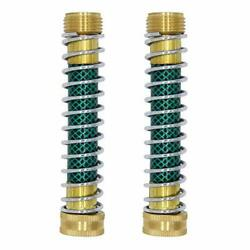 Garden Hose Extension Adapter Hose Kink Protector With Coil Spring Pack Of 2 New