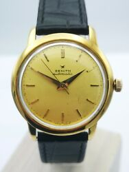 Zenith Stellina Vintage Menand039s Watch From 18k Yellow Gold Automatic