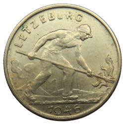 1946 Luxembourg One Franc Coin
