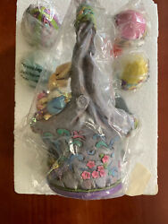 Jim Shore Welcome The Art Of Easter 4035131 Basket With 4 Eggs