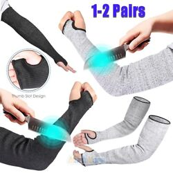 2 Pairs Cut Proof Cut-resistant Sleeve Gloves Outdoor Work Safety Protective Arm