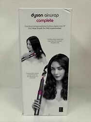 Dyson Airwrap Complete Styler - Multiple Hair Types - Brand New Nickel/fuchsia