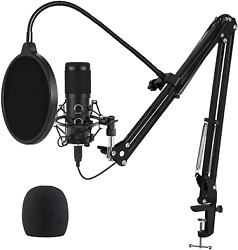 2021 Upgraded Usb Microphone For Computer Mic For Gaming Podcast Live Streami