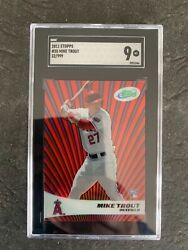 2011 Etopps Mike Trout Rookie Card 35 Sgc 9 Mint 32/999