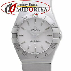 Omega Women 's Constellation Brush Silver 123.10.24.60.02.001 /36780 Secondhand