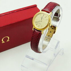 Omega Antique Wristwatch Women 's 750 Constellation Automatic With Box Brand