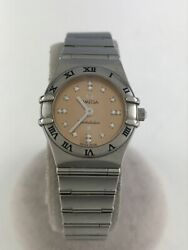 Secondhand Omega Constellation My Choice Ss Analog Stainless Steel Pnk Slv