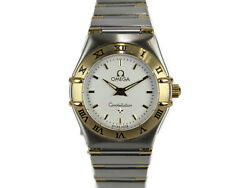 Btc Replaced Omega Constellation 1362.30 Quartz Yellow Gold Ss Combination White