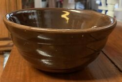 Bauer Pottery Ring Ware 24 Dark Brown Mixing Bowl