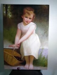 Oil  Canvas Painting. Plums Reproduction.
