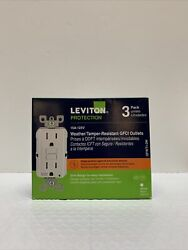 Leviton Protection 15a - 125w Weather|tamper-resistant Gfci Outlets - Gfwt1-3w