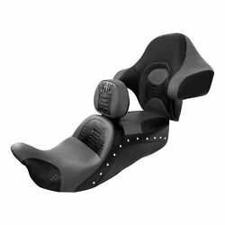 Driver Passenger Seat With Rider Rear Backrest Fit For Harley Touring 2014-later