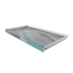 Flexstone Shower Pan 30 In. X 60 In. Mold-resistant Low-profile Threshold Blue
