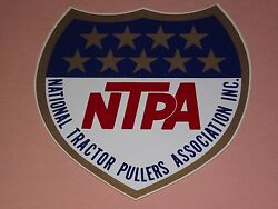 Vintage Ntpa National Tractor Pullers Association Decal Sticker