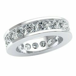 Ladies 4.50ct Classic Channel Eternity Wedding Band Ring Round Diamond 10k Gold