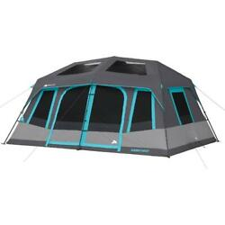 Instant Cabin Tent Ozark 10-person Dark Rest 2 Room Easy Assembly