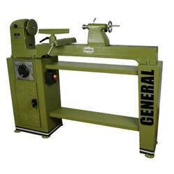 General International 160 M1 120v 1 Hp 12 Wood Lathe Variable Speed W/ Stand