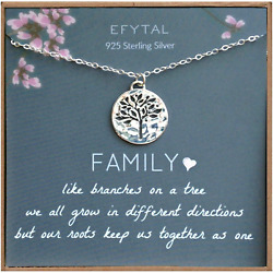 Efytal Grandma Gifts 925 Sterling Silver Family Tree Of Life Necklace Motherand039s