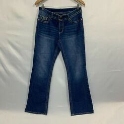 Faded Glory Quality Goods Womens Blue Regular Fit Bootcut Denim Jeans Size 8a