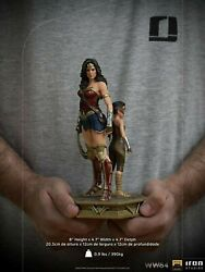 Dhl Iron Studios Ww84 Wonder Woman And Young Diana Deluxe Art Scale 1/10 Statue