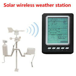 Wireless 433mhz Solar Power Weather Stations Outdoor Thermometer Humidity Sensor