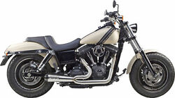 Comp-s 2-1 Brushed Full Exhaust Twb. 005-3750199 For 06-17 Hd Dyna Fld Fxd