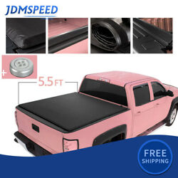 5.5 Ft Bed Roll Up Soft Tonneau Cover Truck And Lamp On Top For 09-20 Ford F-150
