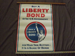 Wwi World War 1 Buy A Liberty Bond Of Us Government Statue Of Liberty Poster