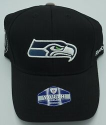 Nfl Seattle Seahawks Reebok Youth Structured Atretch Fit Hat Cap Beanie New