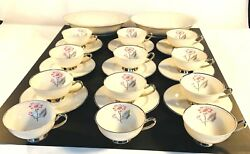 Syracuse China Patricia Tea Cups Saucers Serving Bowls 23 Pc Set Discontinued