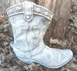 Latex Cowboy Boot Planter Mold With Plastic Backup 8 X 7 X 3