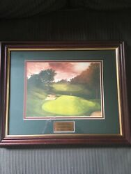 Muirfield Village Golf Club 17th Hole By Crystal Skelley Framed And Plated