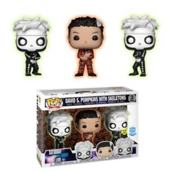 Saturday Night Live David S. Pumpkins With Skeletons Glow Exclusive 3 Pack Funko