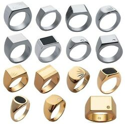 Chevaliere Man Steel Or New Gold Plated 14 Models And Any Size